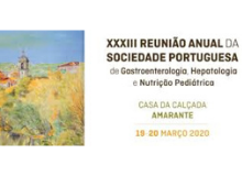 XXXIII Annual Meeting of the Portuguese Society of Gastroenterology, Hepatology and Pediatric Nutrition
